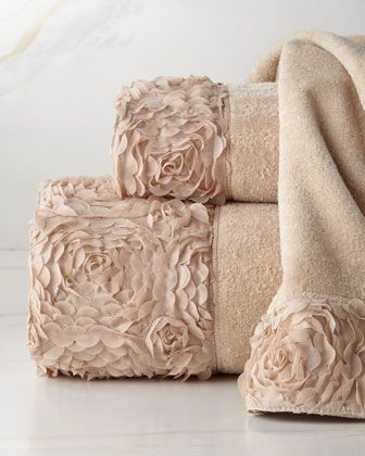 """Mademoiselle"" Towels at Horchow.My dream towels for my draem bath! #Horchow"