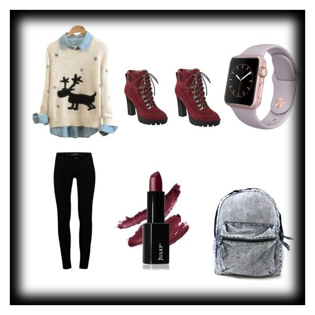 """Christmas Day outfit"" by grace10-2 on Polyvore featuring J Brand and Nine West"