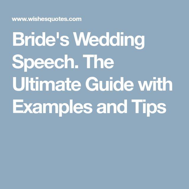 The 25+ best Bride speech examples ideas on Pinterest | Bride ...