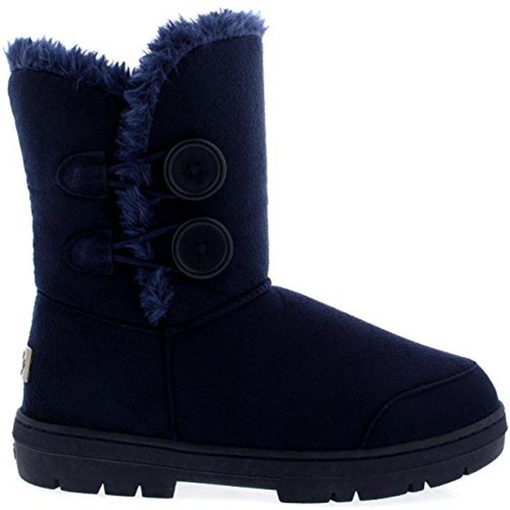 Femmes Bouton Double Fourrure Entièrement Doublé Étanche Hiver Neige Bottes #Bottesetboots #chaussures http://allurechaussure.com/femmes-bouton-double-fourrure-entierement-double-etanche-hiver-neige-bottes-2/