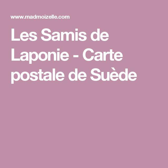 Les Samis de Laponie - Carte postale de Suède
