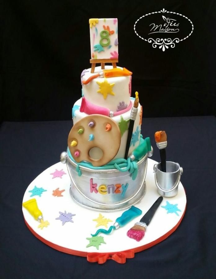 Cake Ideas For Artist : 289 best Art Cakes images on Pinterest Art cakes, Cakes ...