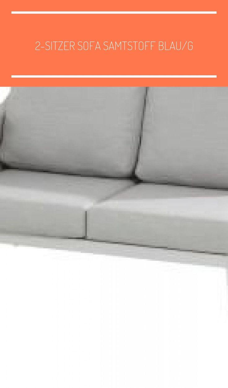 2 Sitzer Sofa Samtstoff Blau G In 2020 Treble Crochet Stitch Smallest Crochet Hook