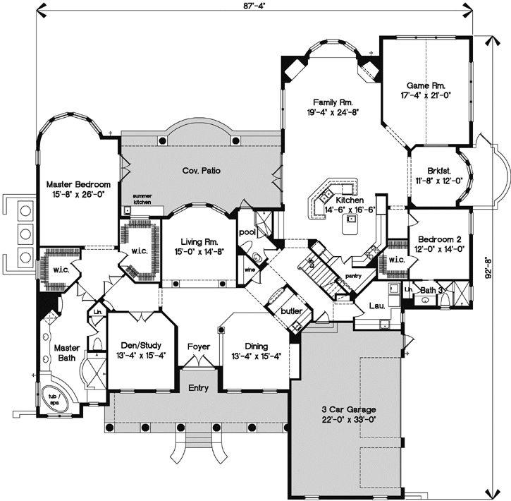 Best Dream House Plans Images On Pinterest Dream House Plans