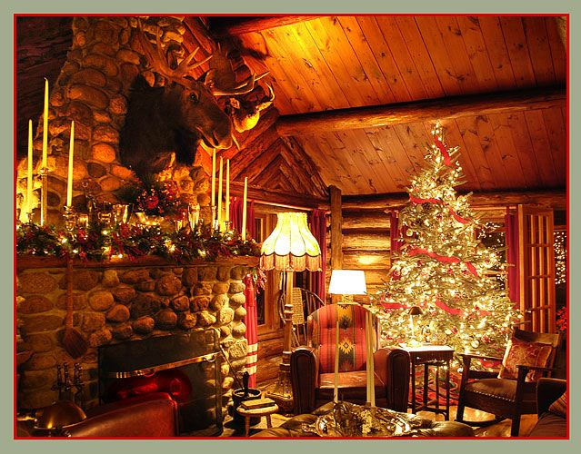 Best Colorado Christmas Images On Pinterest Merry Christmas - Christmas cabin fireplace scenes