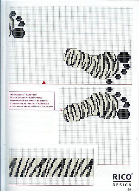 Cross-stitch Zebra Print Footprints... no color chart available, just use pattern chart as your color guide.. or choose your own colors... Gallery.ru / Фото #44 - кладовочка (что уже было и чего не было) - irisha-ira