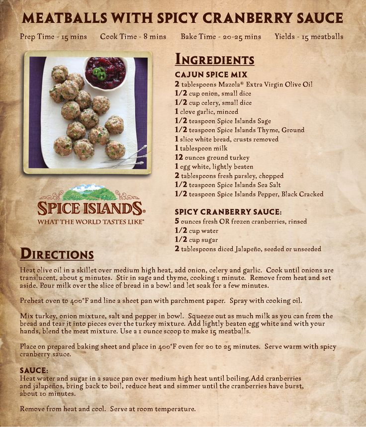20 best recipe cards images on pinterest recipe cards herbs and meatballs with spicy cranberry sauce forumfinder Gallery