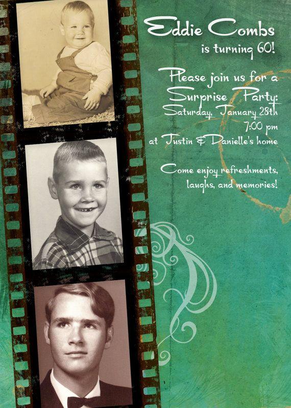 Masculine Birthday Party Invitation great for por gwenmariedesigns