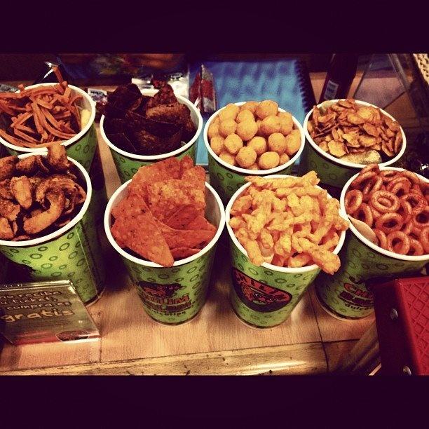 Snacks en el aeropuerto de Ciudad de Mexico.