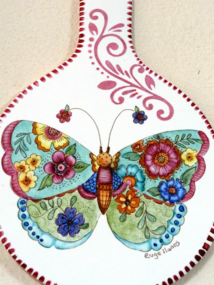 Ani Alonso's butterfly designs for china