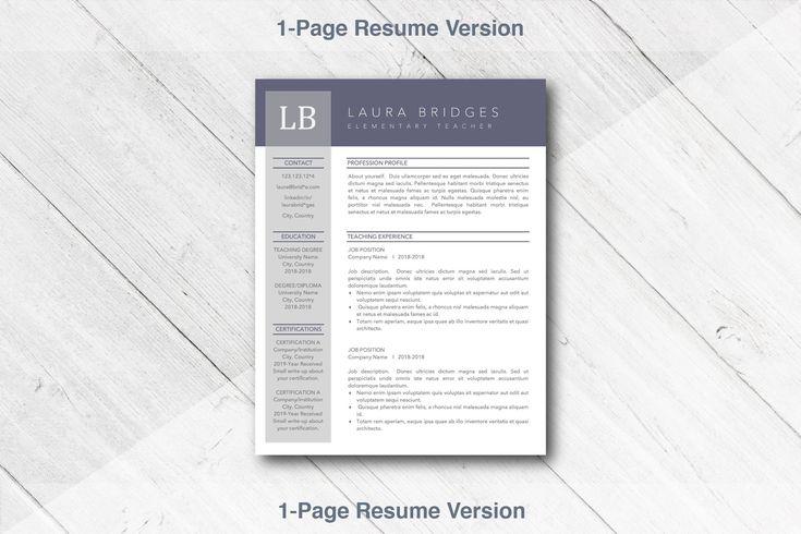 teacher resume template educator cv    ad   icons set icon