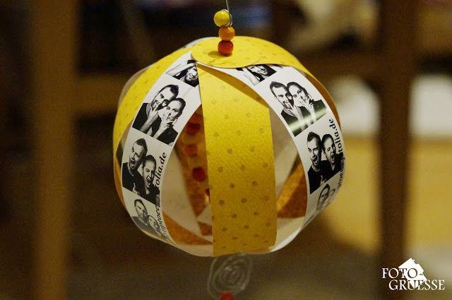 DIY Anleitung für Foto Paperballs Fotokugel z.B. als Alternative zu klassischen Christbaumkugeln