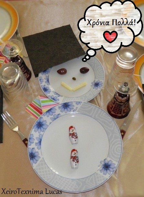 snowman for the christmas table