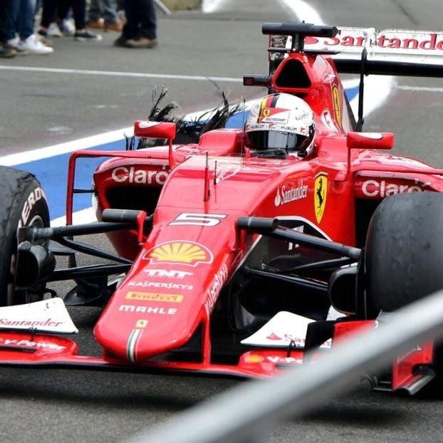 La fine di un pneumatico #Vettel #SpaFrancorchamps