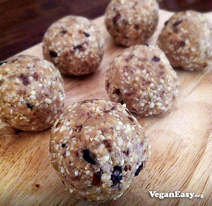 Cookie Dough Bliss Balls -VeganEasy.org