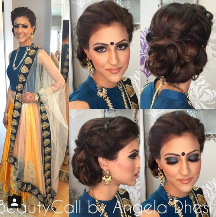 Beautiful outfit and color combination! Love how the cut and design of the top truly lets the fabric and necklace take center stage! Hair/makeup by Beauty Call by Angela Dhesi.