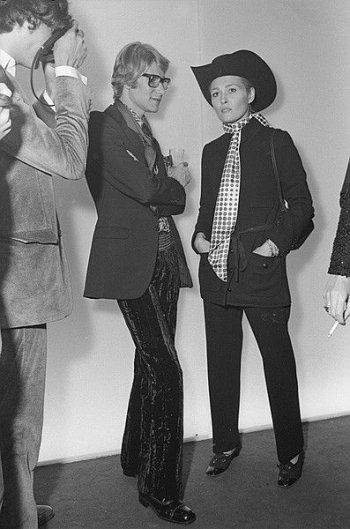 1968 - Yves Saint-Laurent and Faye Dunaway