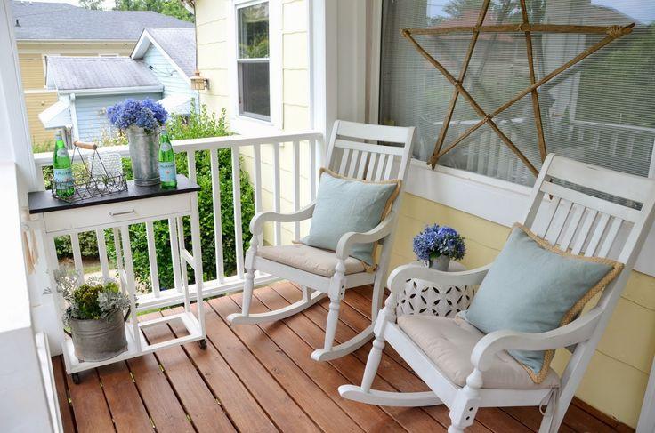 Jak urządzić piękny taras lub balkon? Inspiracje na przytulny taras.   Cinammon rols