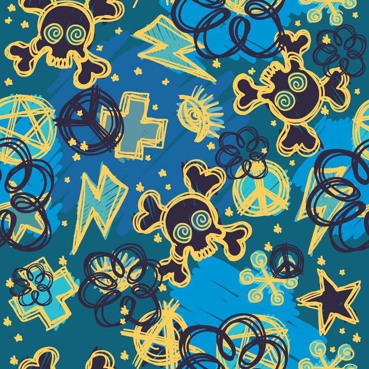 Blauw-gele schedels