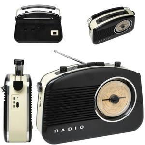Radio 60's bluetooth noire - tuner radio, avis et prix pas cher - Cdiscount