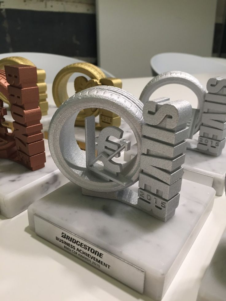 Gemaco - Unides - Bridgestone - corporate 3D printed trophies 3