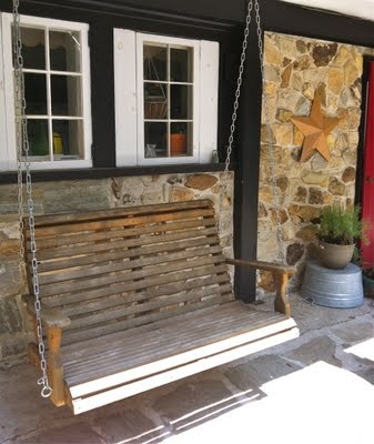 old country front porch swing