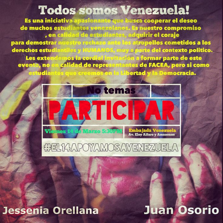 Marcha de apoyo a estudiantes venezolanos- 14 de Marzo