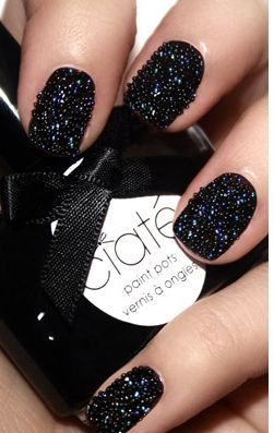Fancy - Black Pearls Caviar Manicure by Ciat christmas caviar nail art