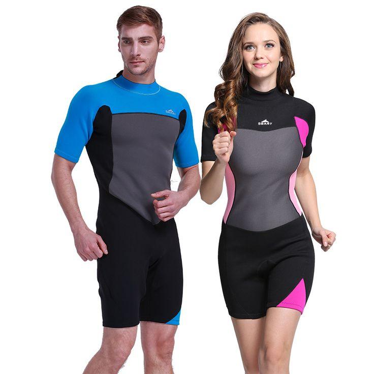 2mm Shorty Wetsuit  Premium Neoprene Wetsuits Short Sleeve Spring Snorkeling, Swimming for Men Women Suit for Scuba Diving,  #Affiliate
