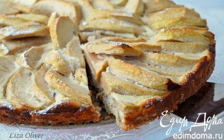 Диетический яблочный пирог с овсянкой и йогуртом | Кулинарные рецепты от «Едим дома!»