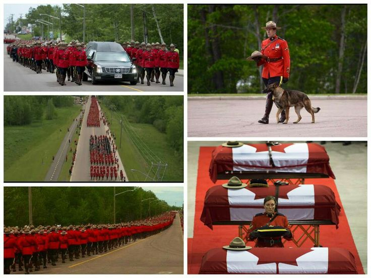 """A Country, from coast to coast, comes together to pay their respect for the three murdered RCMP officers .... Someone on twitter wrote """"melancholic yet magnificient""""  ... Perfectly said....may they Rest in Peace and their families find strength to get through this"""