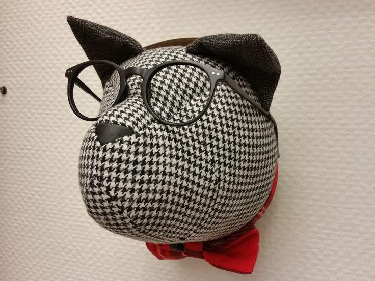 #новинки #Galleria_Arben: настенный #декор @softheads_official - голова кота (шерсть, винтажные очки, галстук-бабочка) #handmade #walldecor