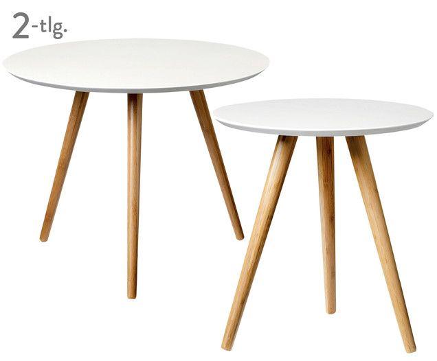 Beistell-Tischset von Westwingnow: Die farblich abgesetzten Tischbeine aus Bambusholz machen LATTÉ zu einem echten Eyecatcher!
