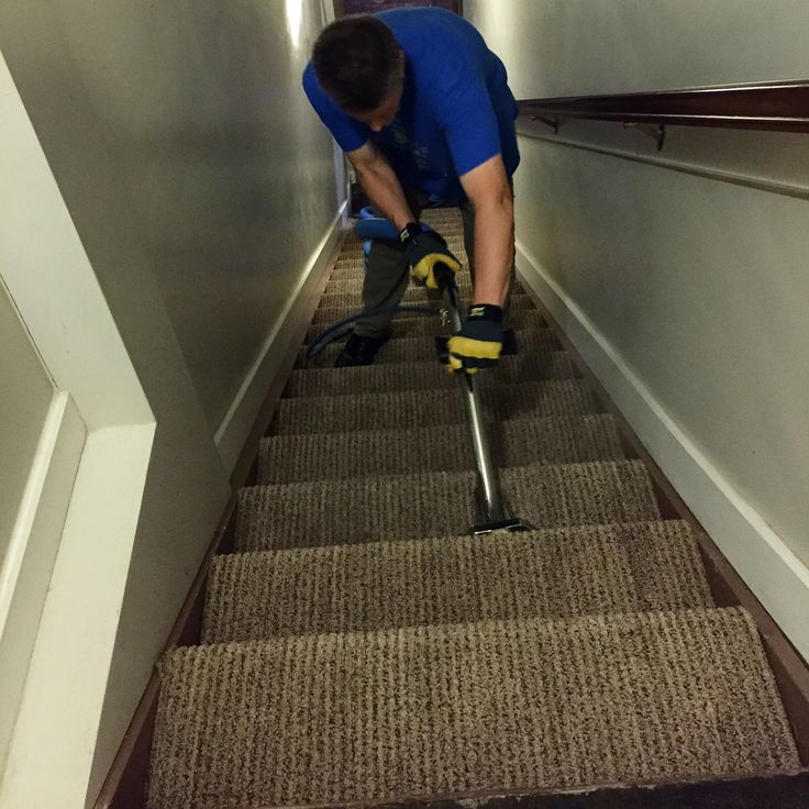 Carpeted stairs have some of the most traffic stains of