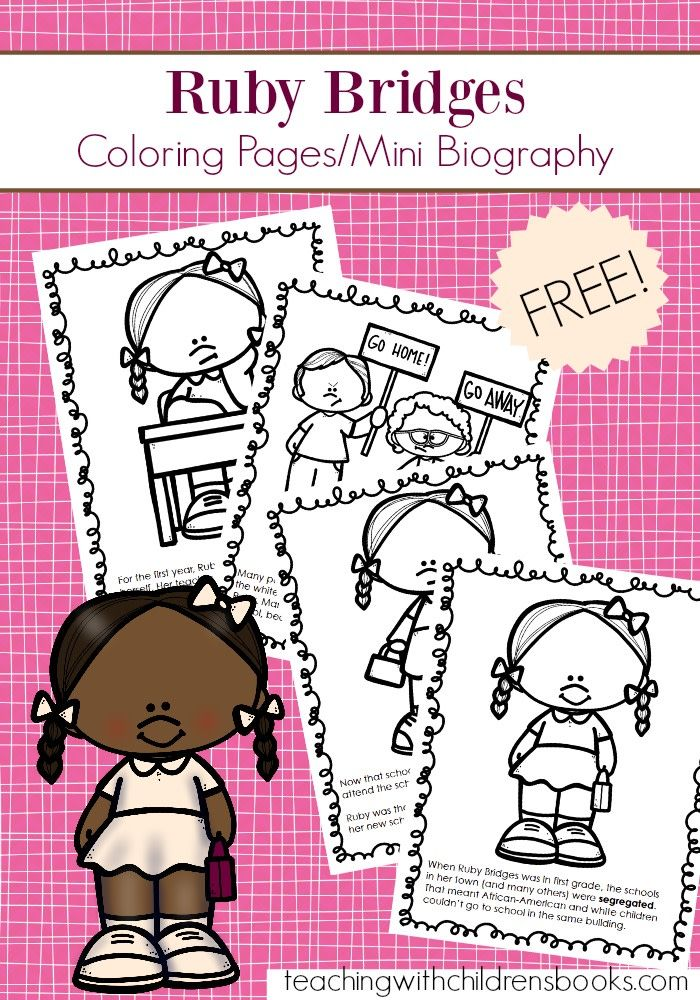 Free Printable Ruby Bridges Coloring Page Packet Black History