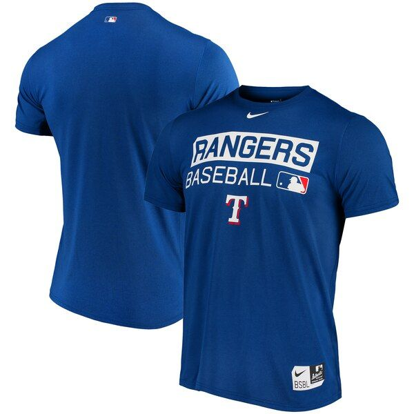 Texas Rangers Nike Authentic Collection Legend Team Issue Performance T Shirt Royal Texasrangers Dri Fit T Shirts Texas Rangers Team Sports Apparel