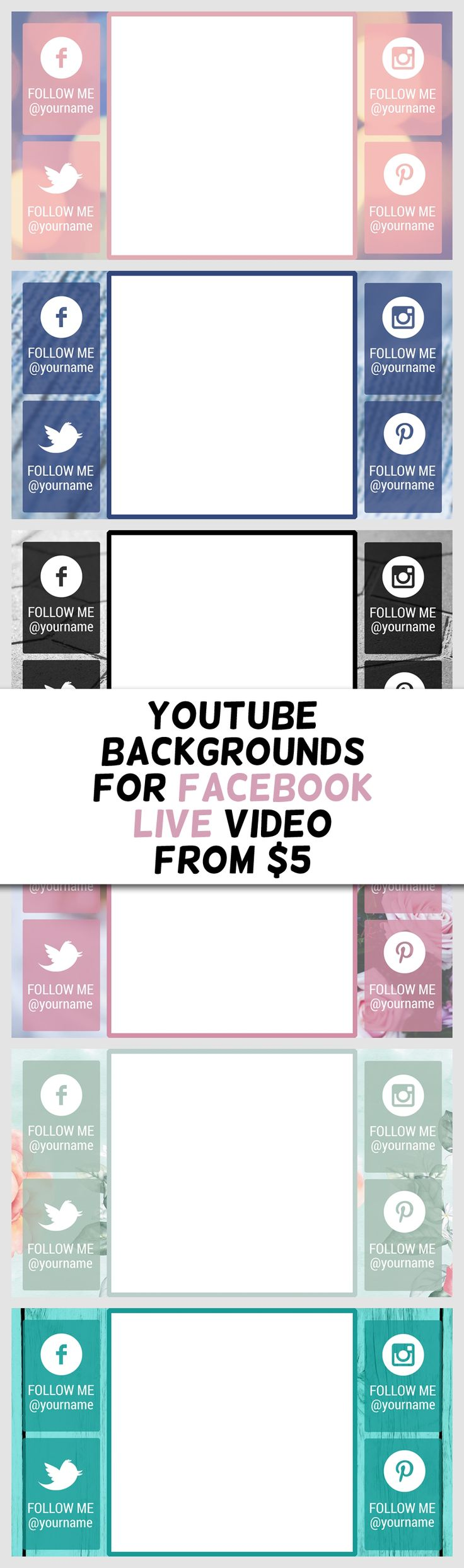 Youtube Backgrounds for Facebook Live video from $5 on Fiverr by Katie Paul