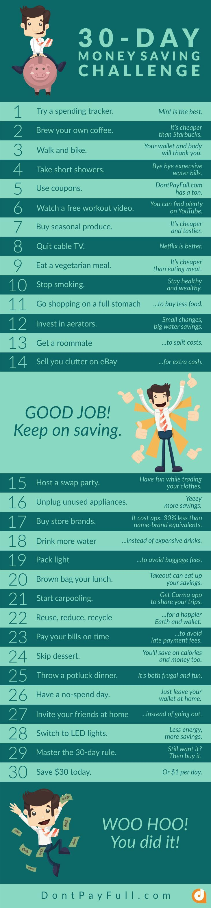 30-Day Money Saving Challenge