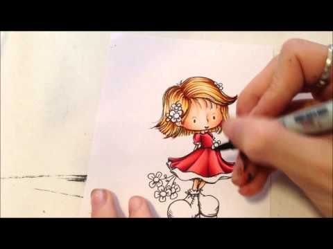 Copic Tutorial - Colouring Red