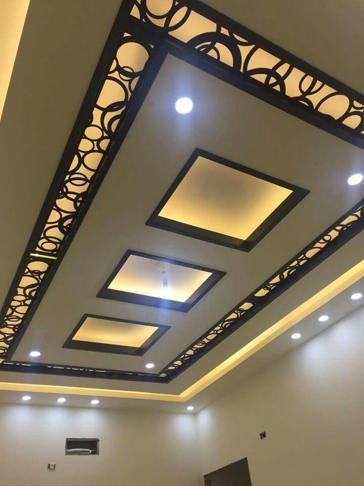 17 Hair Raising Living Room False Ceiling Entertainment Units