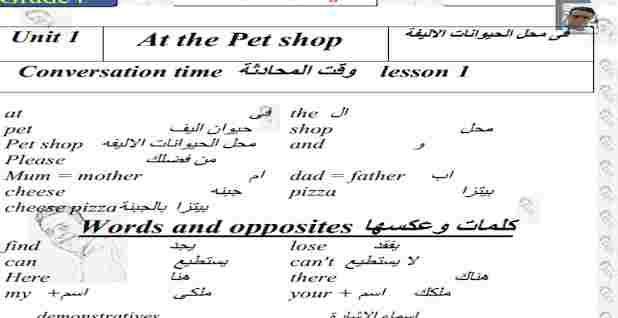 مذكرة انجليزى رابعة ابتدائى ترم اول 2021 مستر محمد ناجح Words Lesson Math