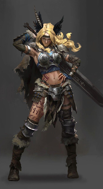 ArtStation - character_design_valkyrie, Lulu Zhang