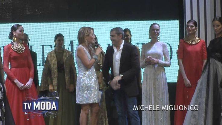 """Lo stilista Michele Miglionico special guest """"Sposi del Nuovo Millennio"""" Palacongressi d'Abruzzo Montesilvano (PE) intervista con Jo Squillo programma Modamania"""