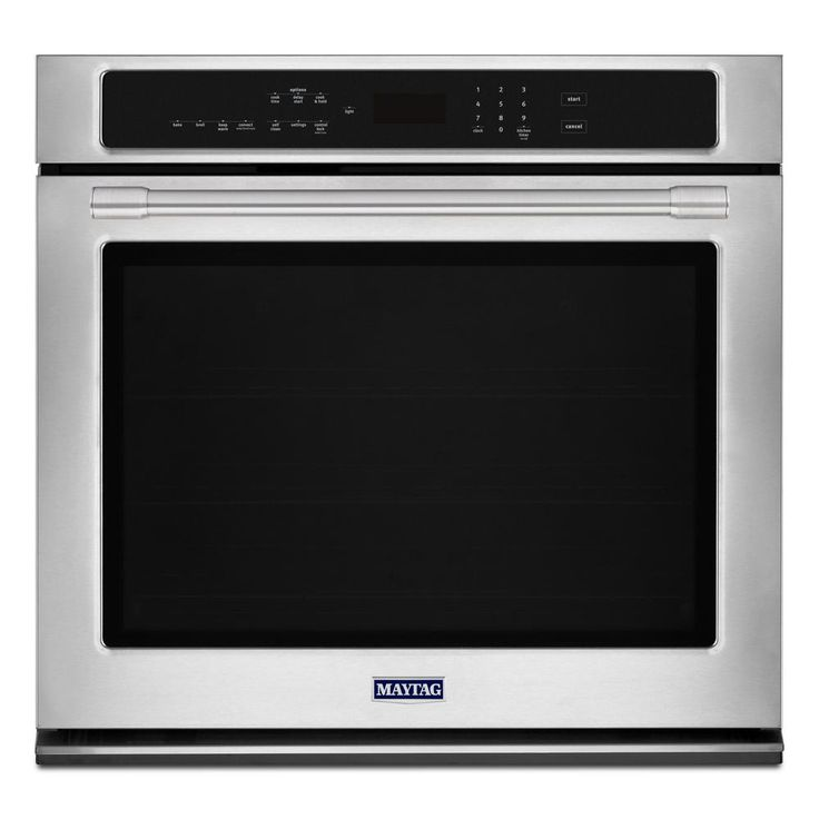 Maytag 27 In Single Electric Wall Oven With True Convection In Fingerprint Resistant Stainless Steel Electric Wall Oven Wall Oven Stainless Steel Oven