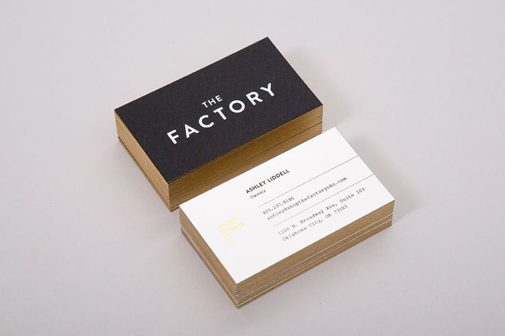 150 best business cards images on pinterest visit cards brand business cards with gold foil for oklahoma city fashion store the factory by design reheart Gallery