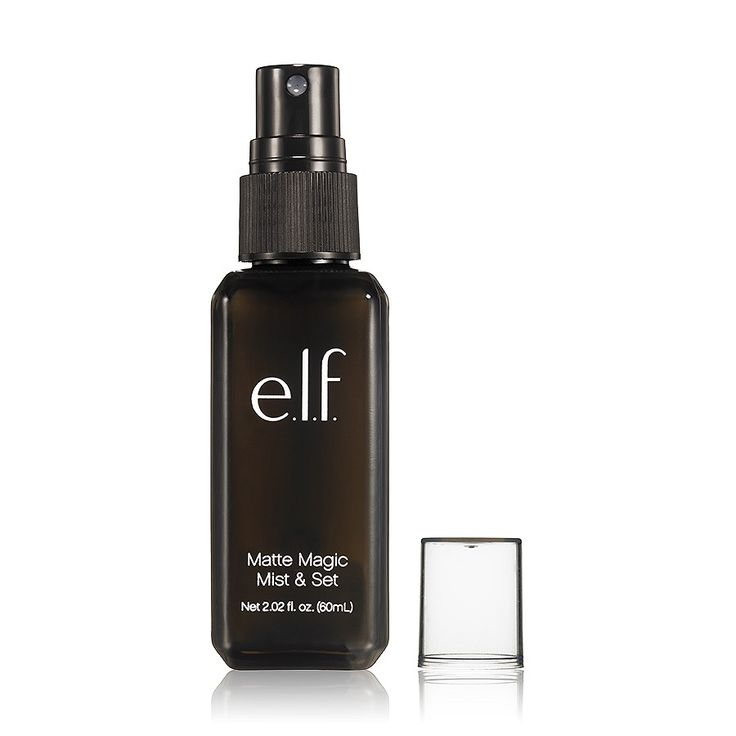 NEW: Matte Magic Mist & Set. This fine clear setting spray helps makeup stay put, and helps control shine for beautiful-looking skin. #elfcosmetics #playbeautifully