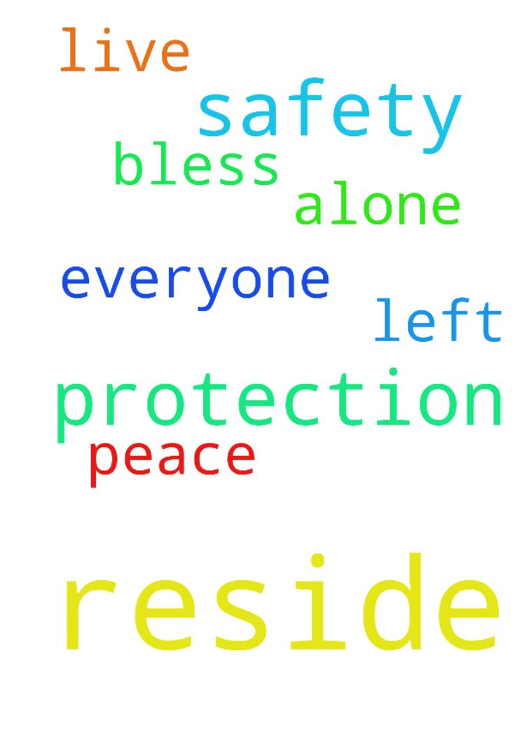 Prayers for safety and protection where we reside. - Prayers for safety and protection where we reside. To be left alone to live in peace. God Bless Everyone. Amen. Posted at: https://prayerrequest.com/t/KNp #pray #prayer #request #prayerrequest