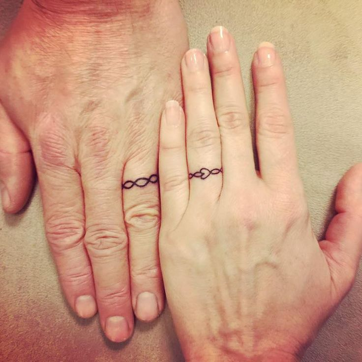 25 Best Ideas About Couples Ring Tattoos On Pinterest Couple Tattoos Love