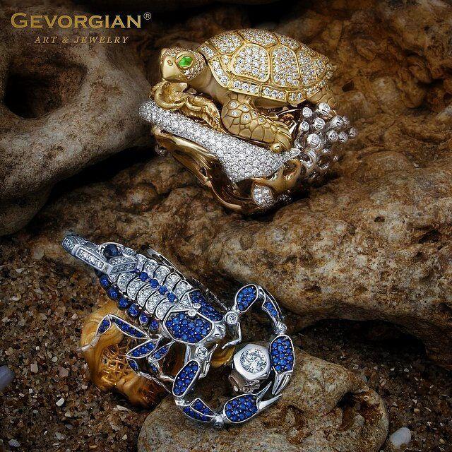 "#ring ""The Scorpion King"" and the ring ""Turtle"" by @gevorgian_jewelry #scorpion #jewelry #turtle #скорпион #черепаха #кольцо #art #rings #fine_jewelry #luxury www.gevorgian.ru #Regrann @Regrann from #GEVORGIAN  #DeJoyaEnJoya #FromJewelToJewel #HighJewelry #fauna #animals #FineJewelry #InstaJewels #InstaGold #InstaLuxury #InstaDiamonds #diamonds"