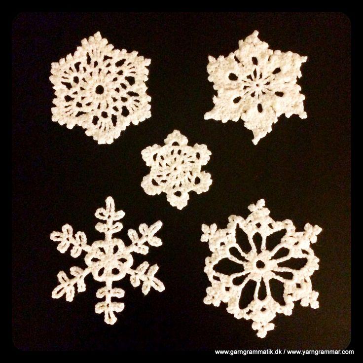 Hæklede snefnug - Garn Grammatik